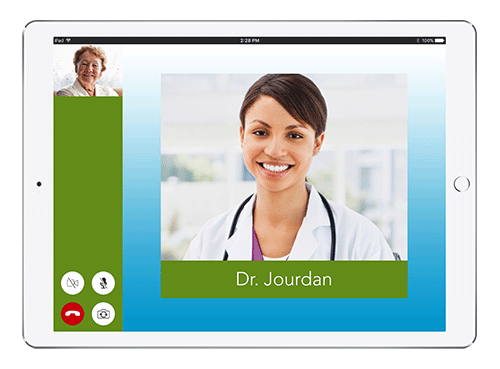 Live Expert Mobility Ohio's Hospice iPad In Call