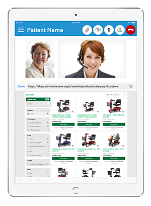 Live Expert Mobility Home Healthcare iPad Cobrowsing