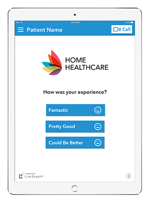 Live Expert Mobility iPad Home Healthcare Customer Satisfaction Survey