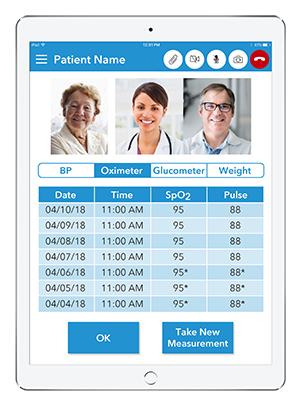 Live Expert Mobility Home Healthcare iPad Table Multiparty Call