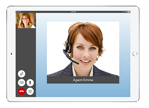 Live Expert Mobility iPad In Call