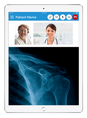 Live Expert Mobility Home Healthcare iPad Content Sharing X-ray