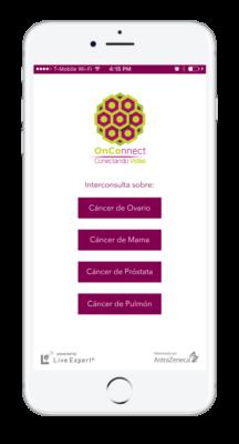 Live Expert Mobility AstraZeneca Home Menu iPhone