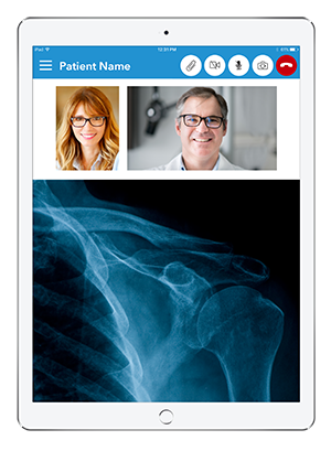 Live Expert Mobility iPad Patient Services Content Sharing X-ray