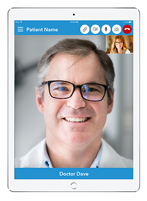 Live Expert Mobility iPad Patient Services Fullscreen Video Chat
