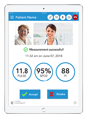 Live Expert Mobility iPad Home Healthcare Content Sharing Measurements
