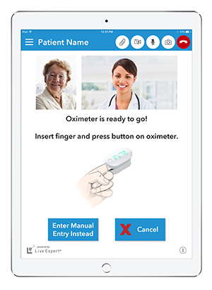 Live Expert Mobility iPad Home Healthcare Content Sharing Pulse Oximeter
