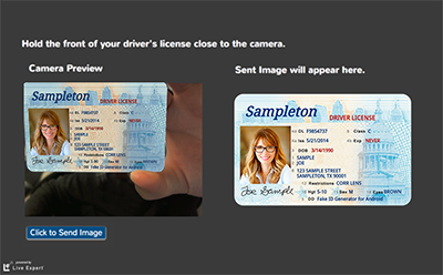 Live Expert Studio ID Verification Screen